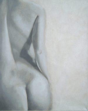 Alaston naisfiguuri, selkä ja pakarat