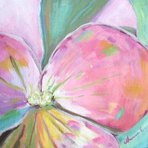 Taulu orvokin kukasta